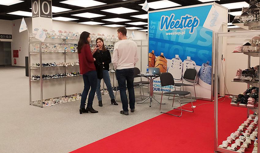 Weestep exhibitor at the Targi Mody Poznań